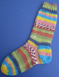DK Weight Sock Pattern from Quanah